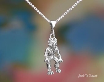 "Sterling Silver Wolfman Necklace 16-24"" Chain or Pendant Only Werewolf"