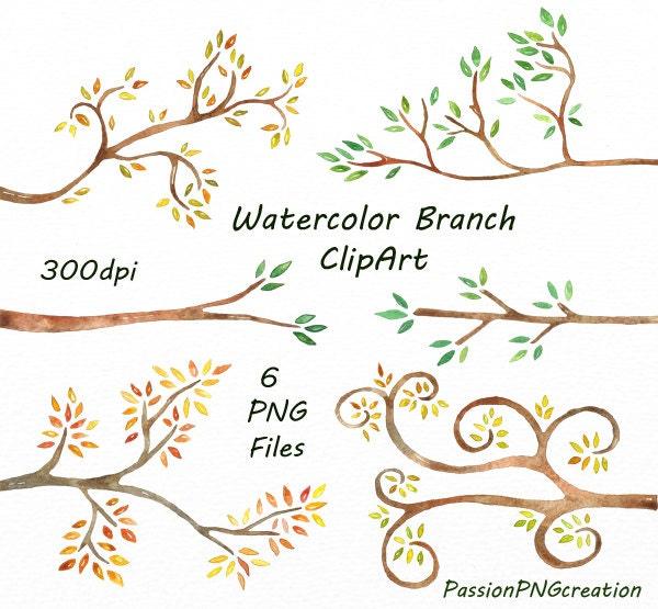 Wedding Tree Watercolor Clipart: Watercolor Branch Clipart Watercolor Clip Art Tree Branch