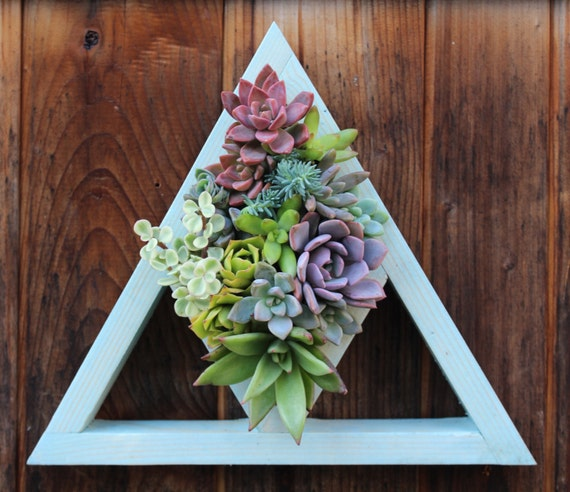 Triangle Cut Out Vertical Garden Planter Ready to ship