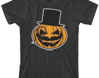 Mustache Monocle Top Hat Pumpkin Men's T-shirt