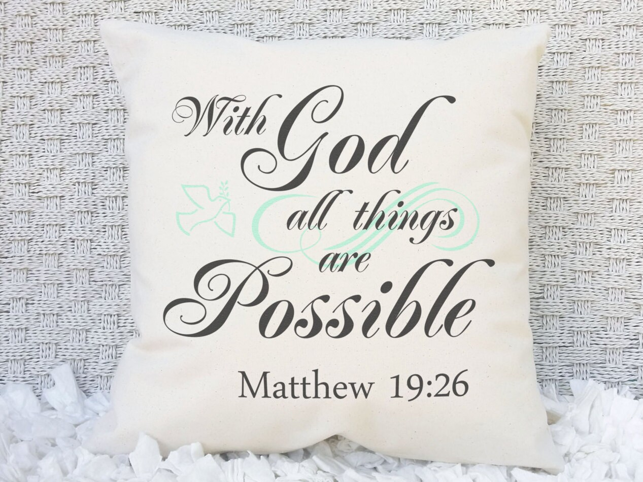 With God all Things are Possible Matthew 19:26 Scripture