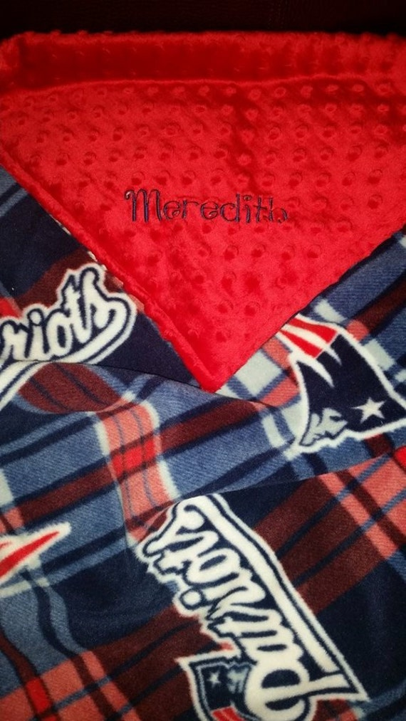 New England Patriots Plaid Football Fleece And Double Sided