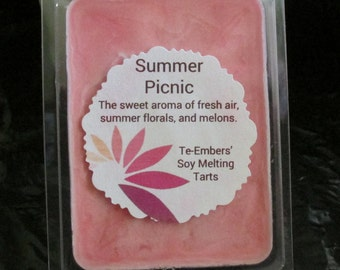 Summer Picnic Scented Soy Clamshell Tarts