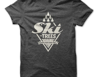 Ski The Trees Diamond Ski T-Shirt - NEW!