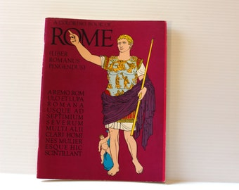 COLORING BOOK of ROME, Vintage Coloring Book,Roman coloring book,Historical coloring book,educational book,home school book,Roman characters