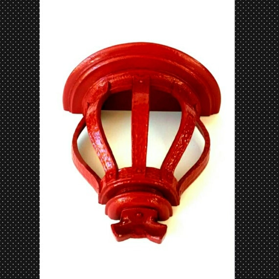 Red Wall Sconce Shelf Hanging Display Knick by MakingMidCenturyMod