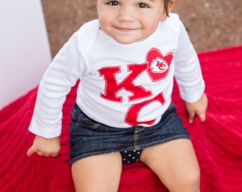Red KC Pride with heart Toddler Shirt