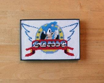 Sonic The Hedgehog Cross Stitch
