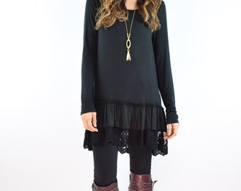 Lace Tiered Tunic