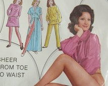 Vintage 1960s Unopened American 'All Sheer' Pantyhose 100% Nylon- Sheer from toe to waist- Size unmarked