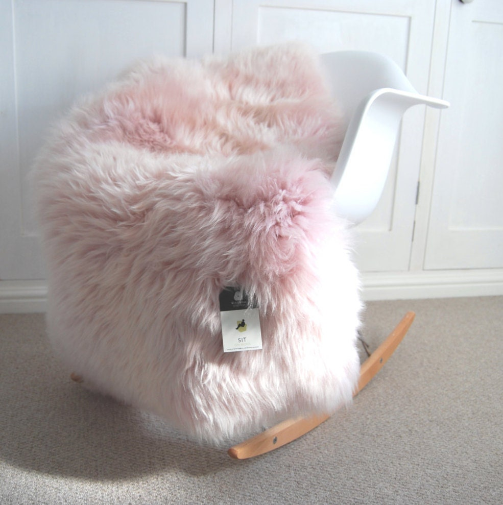 Dusky Pink Sheepskin Rug Pale Pink And Super Fluffy Absolutely