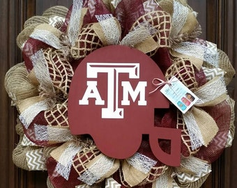 A&M Football Wreath, Fall Wreath, Aggies, ATM Aggie Wreath