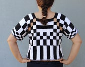 Knitted Color Block Top, Geometric Top Size Small/ Medium US size 8/10 EU size 38/40