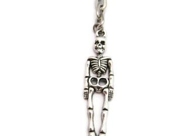 Skeleton Keychain Human Skeleton Keychain Anatomy Keychain Halloween Keychain Halloween Lovers Gifts Under 10 Skeleton Key Ring