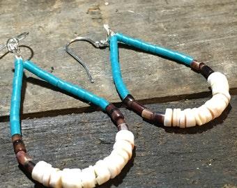 Hoop // Heishi Shell // Turquoise // Earrings