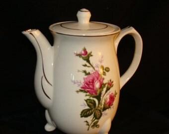 Petite Electric Tea Pot with Crimson Rose Motif