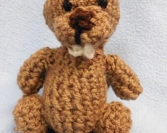 Cute Crochet Plush Beaver Stuffed Animal