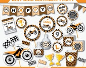Motorcycle Birthday - Dirt Bike Party - Motocross Birthday - Dirt Bike Birthday - Motorcycle Party - Dirtbike Decor (Instant Download)