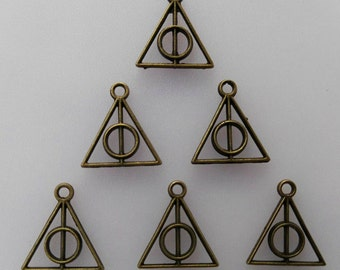 5pcs Deathly Hallows Triangle Charms 5pcs