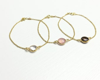 SAFIRA - set of 3 Crystal bracelets