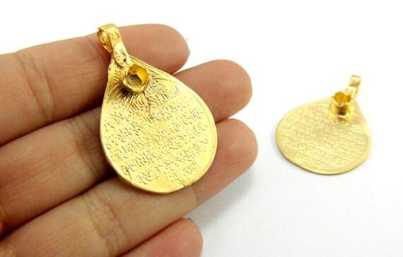 1 pc gold islamic pendant 38mm x 25mm gold islamic jewelry 1 pc gold islamic pendant 38mm x 25mm gold islamic jewelry pendants 24k matte gold plated islamic pray pendants gps 128 from cchange on etsy studio aloadofball Images