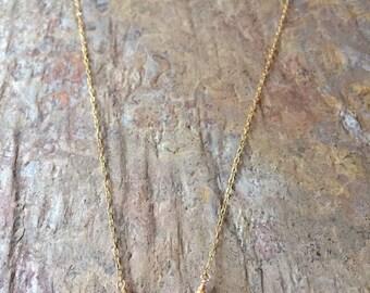 Garnet gemstone gold necklace