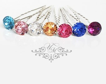 Set of 6 Swarovski Crystal hair pins Wedding Hair pins Wedding hair Accessories Bridal Bridesmaids hair pins Swarovski rhinestone Headpiece