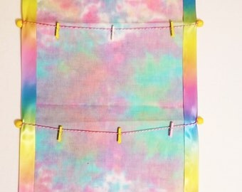 Be Everything Tie-Dye Wall Hanging for photos and/or memos! Comes with Mini Clothespins!