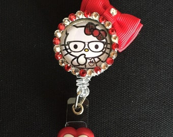 Hello Kitty Retractable I.D. Badge Holder