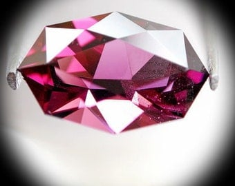 Pink Spinal | 1.35ct | Precision Cut | Very unusual cutting design.This  design good for a pendent or a ring.