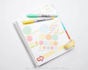 Dot Sampler Sticker Sheet : Sherbert Theme Planner Stickers
