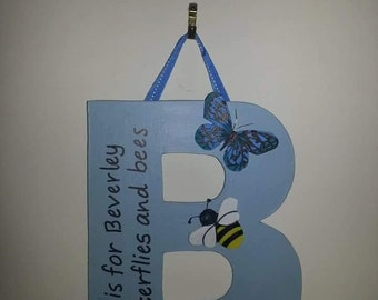 Personalised letter plaques. Lovingly hand crafted.