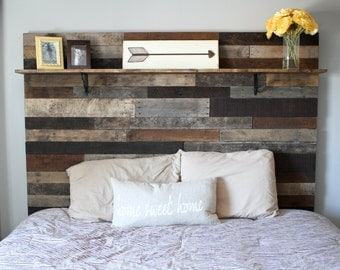Rustic Headboard Made from Reclaimed Wood