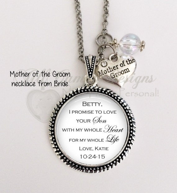 Mother Of The Groom Gift From Bride I Promise To