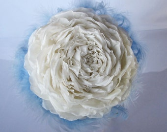 Wedding Bouquet, Big Wedding Rose Bouquet, Bridal Bouquet brooches, Ivory fabric flower, Brooch Bouquet, Retro Bouquet, Shabby Chic Bouquet