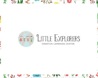 Children & Globe Logo Design - Web and Print - Limited Edition! Perfect For Kid's Clothing, Boutique, Daycare, Childcare + more