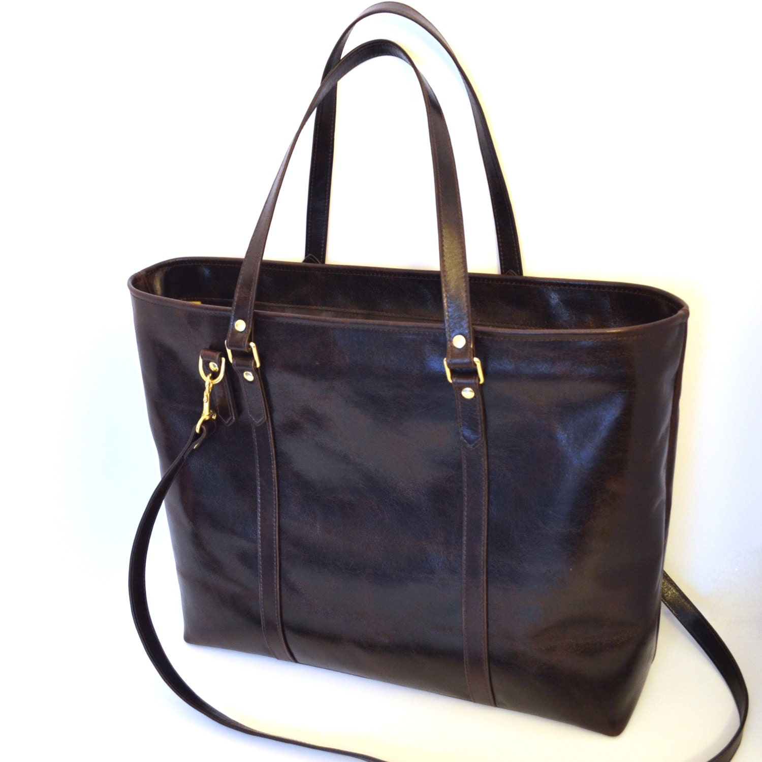 leather diaper bag leather tote brown leather tote bag. Black Bedroom Furniture Sets. Home Design Ideas