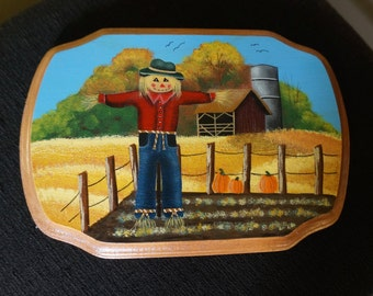 Original Art; Wood Plaque; Acrylic; Protective Coating; Approx. 6.5 x 9.5 Inches; Country !!!