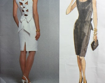 Vintage Vogue 2672 Nipon Boutique 1990's American Designer Dress Pattern Misses' size 6-8-10 from 1991 Uncut
