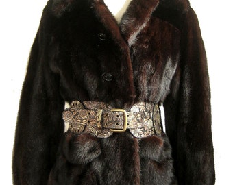 Pristine MAHOGANY Ruby Ranch Darkest Brown MINK FUR Coat Jacket  ~ Luxury gift!