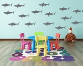 Shark Wall Decal - Shark Vinyl Decals for Walls - Shark Week Decals - Vinyl Wall Decal Stickers - Shark Room Decor - Sharks - Peel & Stick