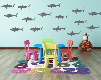 Shark Wall Decal   Shark Vinyl Decals For Walls   Shark Week Decals   Vinyl  Wall Part 86