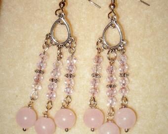 Triple Pink Earrings