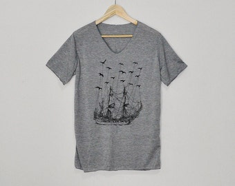 Fly To Neverland By Pirate Ship Shirt Tshirt T-shirt Top Size S M L