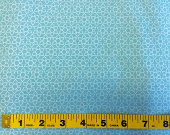 One Yard, Blue Delighted Daisy, Delighted Collection, The Quilted Fish - Riley Blake - Blue, White, Quilting Cotton Fabric