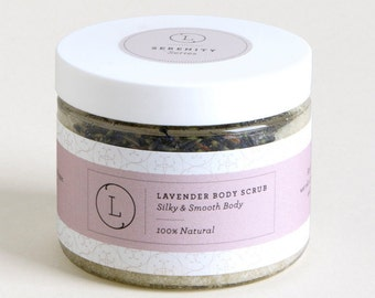 Lavender Natural & Vegan Body Scrub, Natural Body Scrub, Sea Salt Scrub, Natural Scrub, Scrub 10 oz, 100% Natural Scrub Lavender - By Lizush