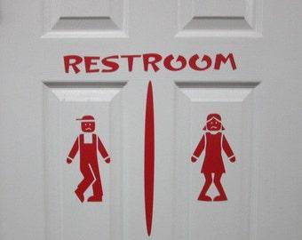 Custom Restroom Door Sign