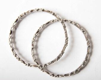 Saharwi granulated bangles - silver