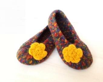 """Pattern """"Crocheted felted slippers """"Paula"""", Crochet Felting Pattern, shoes"""