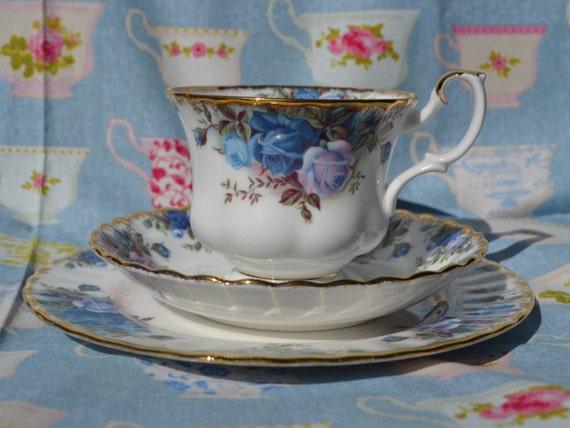 royal albert moonlight rose trio tasse de th soucoupe 7. Black Bedroom Furniture Sets. Home Design Ideas